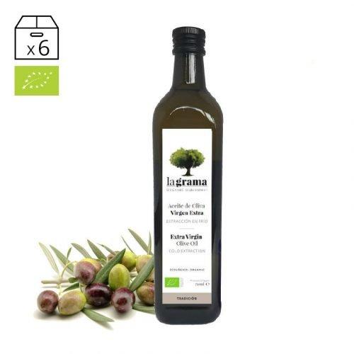 La Grama Tradición 0,75 litros – Aceite de Oliva Virgen Extra Ecológico – Cosecha 2018-2019