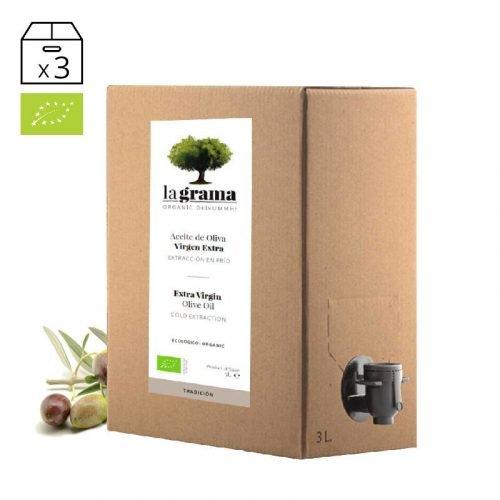 La Grama Tradición bag-in-box de 3 litros – Aceite de Oliva Virgen Extra Ecológico