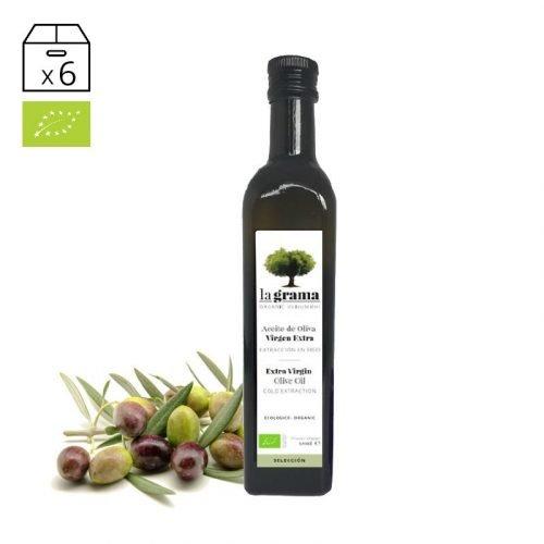 La Grama Selección 0,50 litros – Aceite de Oliva Virgen Extra Ecológico