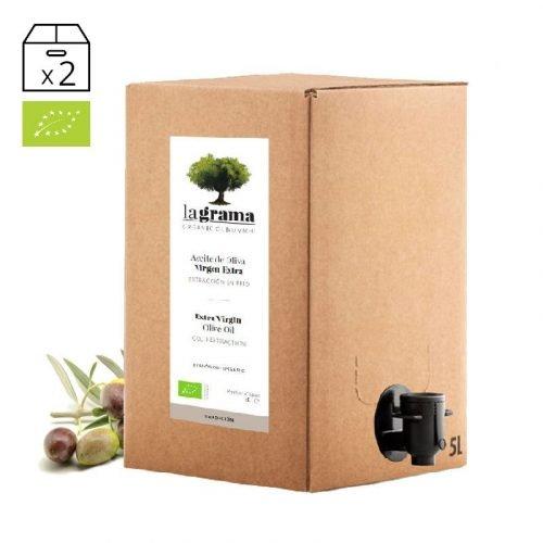 La Grama Tradición bag-in-box de 5 litros – Aceite de Oliva Virgen Extra Ecológico – Cosecha 2018-2019